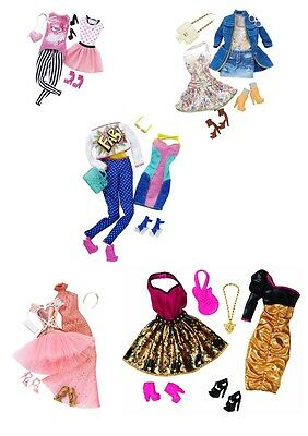Mattel Barbie Fashionistas Barbie Doll Clothes Fashion Outfits My Fab Life Looks