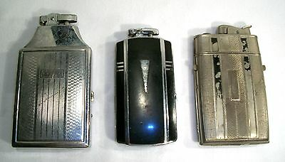 Vintage Collection of 3 Lighters with Storage Cases Ronson, Evans and Japan Made