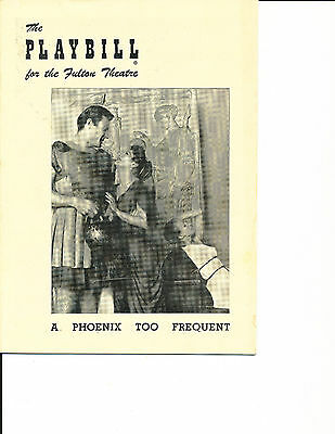 """Opening Night Playbill """"A Phoenix Too Frequent"""" 1950 RARE 5 Performances"""