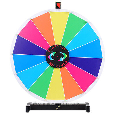 """24"""" Editable Dry Erase Color Prize Wheel of Fortune Spin Game Trade Show Win"""