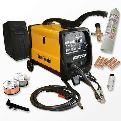 WOLF MIG 140X Welder Gas & No Gas Combination Turbo Smooth DC Welder & Accessory