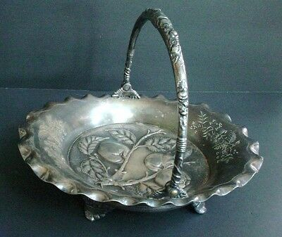 Antique Pairpoint Silverplate Bride's Basket #2