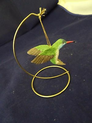 Hummingbird Hanging Figurine With Stand-Gold Thread Hanger