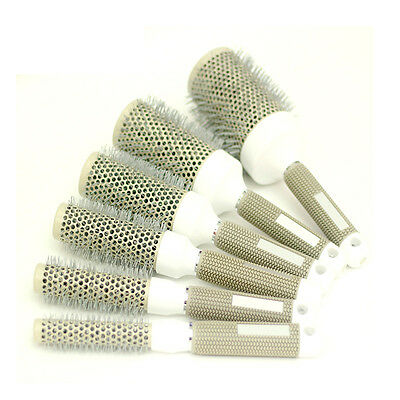 6 Sizes Hair Brush Nano Thermal Ceramic Ionic Round Barrel Comb Styling Brush