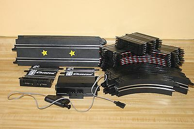 CARRERA  GO 1:43 SLOT CAR TRACKS + Transformer + controller long short straight