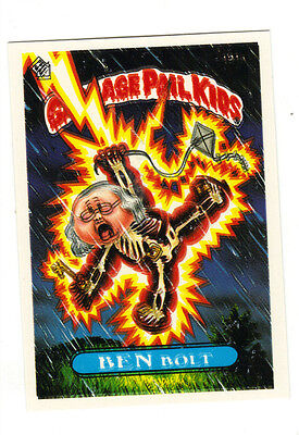1986 Garbage pail kids series 5 BEN BOLT missing the number 191 A