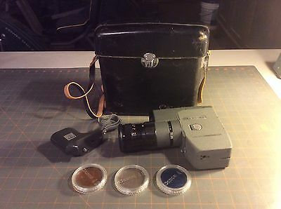 8MM CANON REFLEX 8-2, 10-40mm/1.4 CANON ZOOM C-8 Leather Case 3 Filters