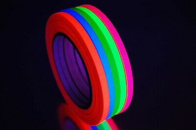 1/4 Inch UV Blacklight Reactive Fluorescent Gaffer Tape 1 Roll x 25 yds