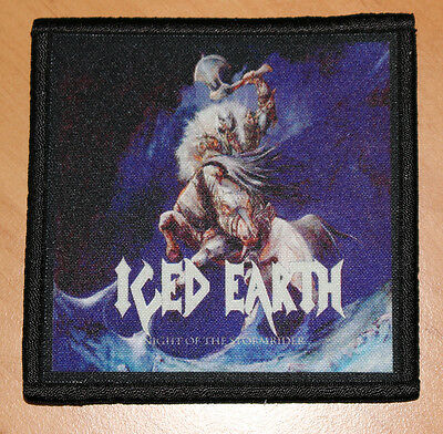 """ICED EARTH """"NIGHT OF THE STORMRIDER"""" silk screen PATCH"""