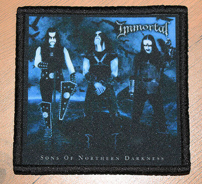 """IMMORTAL """"SONS OF NORTHERN DARKNESS"""" silk screen PATCH"""