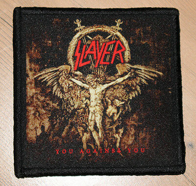 """SLAYER """"YOU AGAINST YOU"""" silk screen PATCH"""