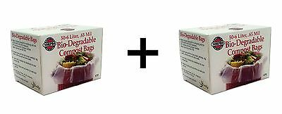 Norpro Bio-Degradable COMPOST BAGS 50 count Pail/Bin Refill 6 Liter Bag 2-Pack
