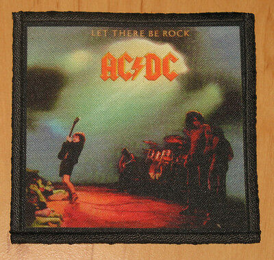 """AC/DC """"LET THERE BE ROCK"""" silk screen PATCH"""