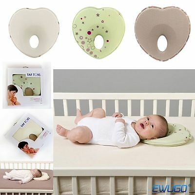 Baby Newborn Infant Memory Foam Pillow Anti Roll Prevent Flat Head Support Neck
