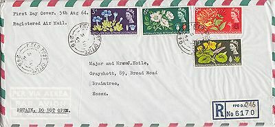 GB 1964 Botanical congress set on Plain Reg Airmail FDC    FPO 246   cancels