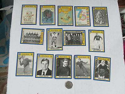 Football Usa Notre Dame---14 X Collectors Cards