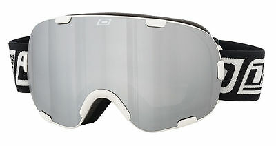 Dirty Dog 54154 Afterburner Adult Snow Ski Goggles White / Grey Silver Mirror
