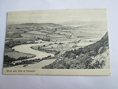 Postcard of River and Vale of Conway posted 1910
