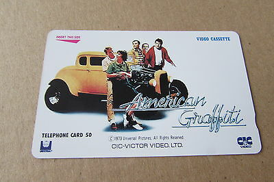 American Graffiti Movie On Mint Unused Phonecard From Japan