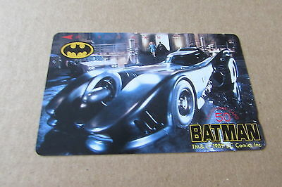 Batman Batmobile Rare Mint Unused Phonecard From Japan