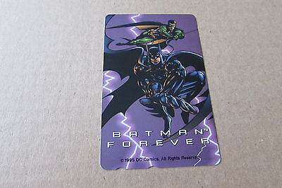 Batman Forever Rare Mint Unused Phonecard From Japan