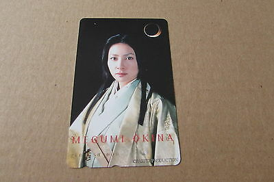 Megumi Okina Actress Movie On Mint Unused Phonecard From Japan