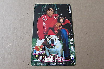 Michael Jackson Pets Dog  On  Mint Unused Phonecard From Japan