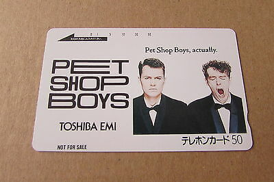 Pet Shop Boys Actually Mint Unused Phonecard From Japan