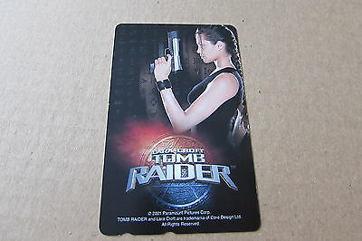 Tomb Raider Jolie Movie On Mint Unused Phonecard From Japan
