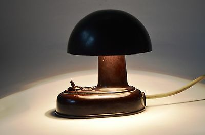 Vintage Atomic Space Age Modernism 1960s  Czech Table Wall lamp MUSHROOM