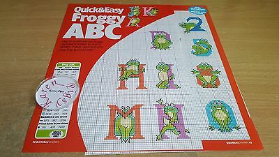 Cross Stitch Chart Frog Alphabet & Numbers Charts Froggy Letters
