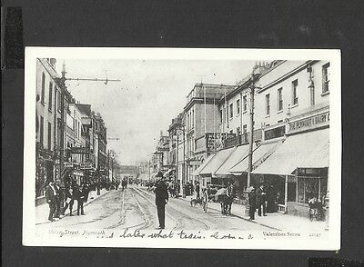 Valentine's Real Photo Postcard Policeman Union Street Plymouth unposted