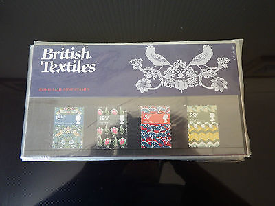 Qe2 Superb 1982 Textiles  Presentation Pack In Mint Condition