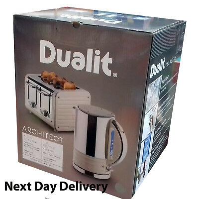 Dualit Architect Stainless Steel 1.5L Kettle & 4 Slice Toaster Matching Set