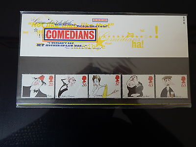 Qe2 Superb 1998  Comedians Presentation Pack In Mint Condition