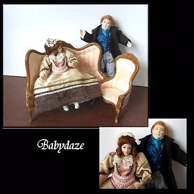 12Th Scale Dolls House/miniature Porcelain  Lady And Gentleman..  Quality Items