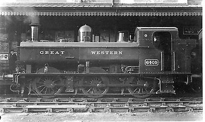 Photo GWR 0-6-0T No 6400 at unknown location W/drawn in 1964