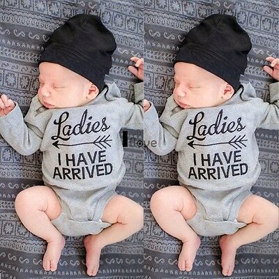 Newborn Toddler Baby Boy Girls Cotton Rompers Jumpsuit Bodysuit Clothes ILOE