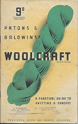 Patons Woolcraft  Early Edition, Cost 9d new.