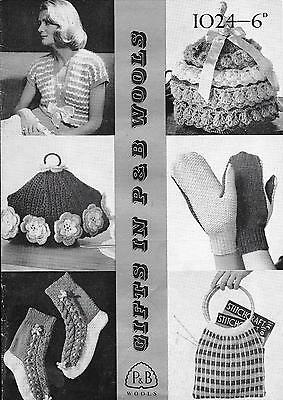 Patons Pattern 1024 Knitted Gifts