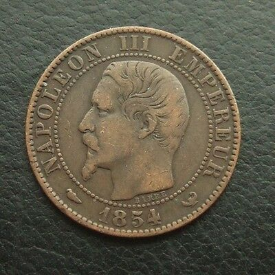 France 5 Centimes 1854-W - Nice Example #06