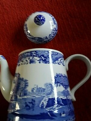 spode italian blue and white coffee pot