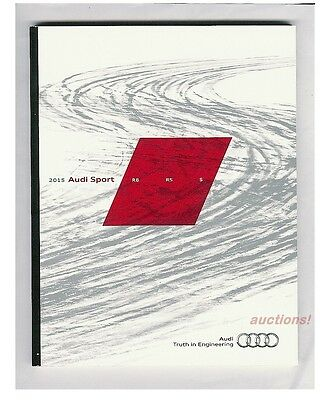 2015 AUDI SPORT EXCLUSIVE BROCHURE R8 RS7 RS5 S8 S7 S6 S5 S4 S4 S3 TTS SQ5 98pgs