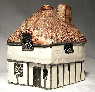 Tey Pottery   Miniature House   11  Thatch Decorated House