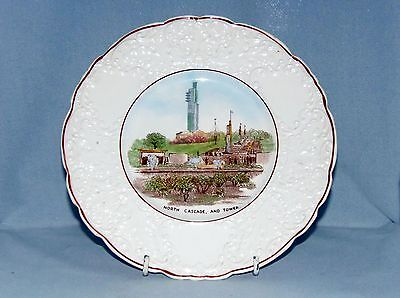 W.h.goss, 1938 Empire Exhibition Glasgow Plate, North Cascade, And Tower.