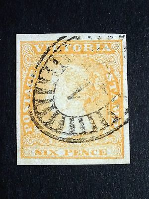 Victoria 1854 SG 32a, 6d Dull Orange, Imperf Very Fine Used, Cat £19+