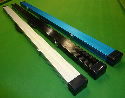 1pc Aluminium Snooker Cue case with Locking catches & Foam lining - holds 2 cues