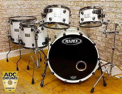 Used Mapex Saturn Series White Drum Kit  - 22/16/14/12/10 - Superb Condition!