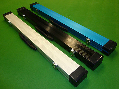 2pc Aluminium Snooker Cue case - with Locking catches & Foam lining