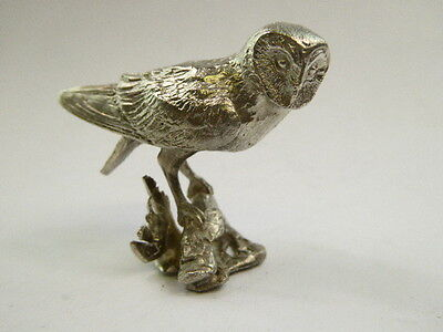 SOLID STERLING SILVER MINIATURE owl  BY PAUL EATON